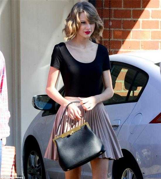 Staying in shape: The slim star showed exactly how she maintains her fabulous figure as she left her dance class in LA