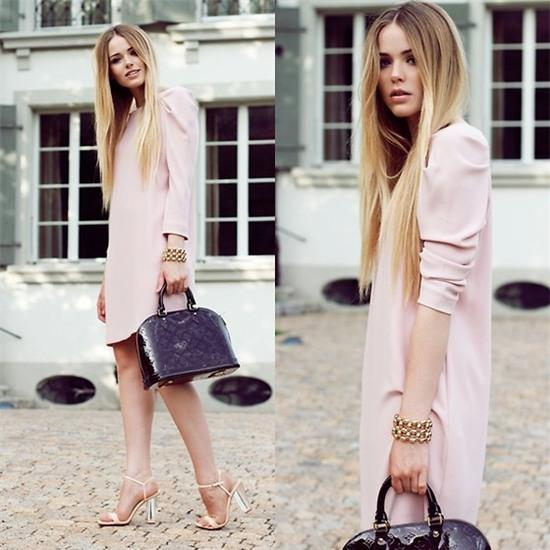 Kristina Bazan - Louis Vuitton Bag, Zara Dress - GRADUATION DINNER OUTFIT