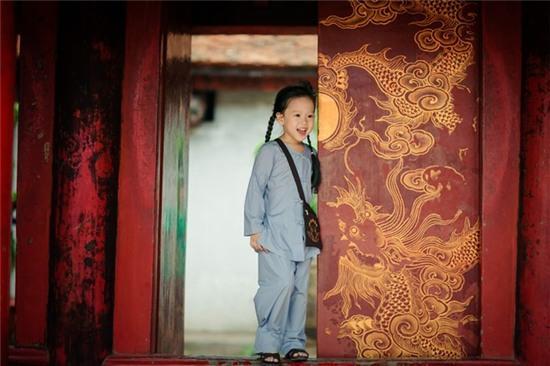 Bộ ảnh phật tử 4 tuổi trong lễ Vu Lan
