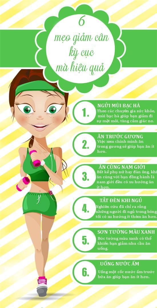 6 mẹo giảm cân kỳ cục mà hiệu quả