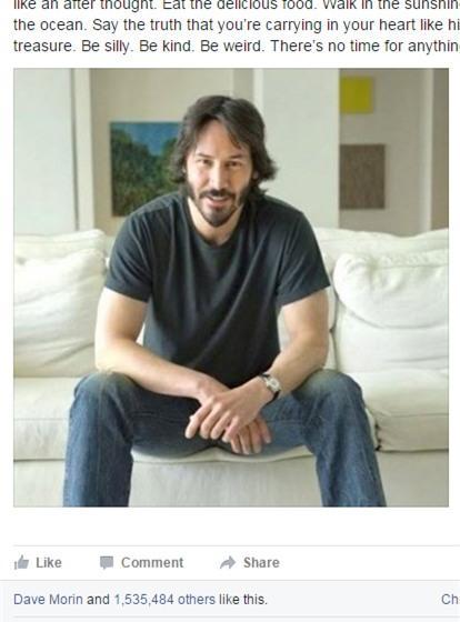 """Lời khuyên sống """"thả phanh"""" của Keanu Reeves khiến cư dân mạng thế giới náo loạn - Ảnh 2."""