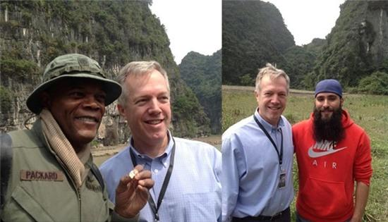Samuel L Jackson hé lộ phim trường 'King Kong' ở Ninh Bình