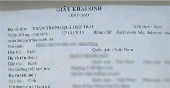 Muôn kiểu đặt tên bá đạo chỉ có ở Việt Nam - Ảnh 1.