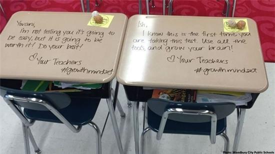 Để truyền cảm hứng cho học sinh thi cử, nữ giáo viên đã làm điều chưa ai từng nghĩ đến - Ảnh 4.