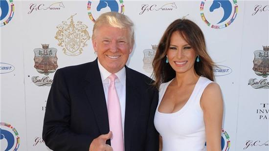 Donald Trump cùng người vợ hiện tại Melania