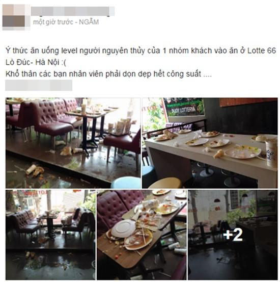Hà Nội: Cảnh bày bừa kinh hoàng tại quán Lotteria sau tiệc chia tay cuối năm của học sinh lớp 4 - Ảnh 1.