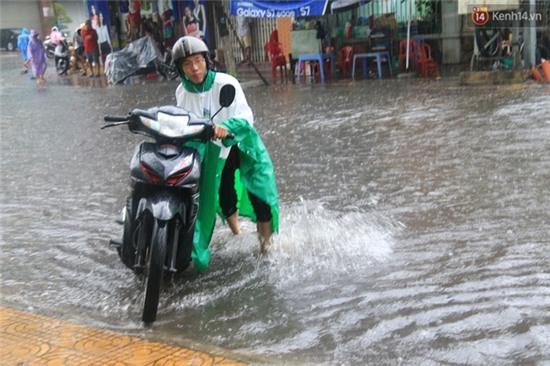 Sau Hà Nội, đến lượt người dân Đà Nẵng dắt xe bì bõm trong dòng nước ngập sau mưa - Ảnh 10.