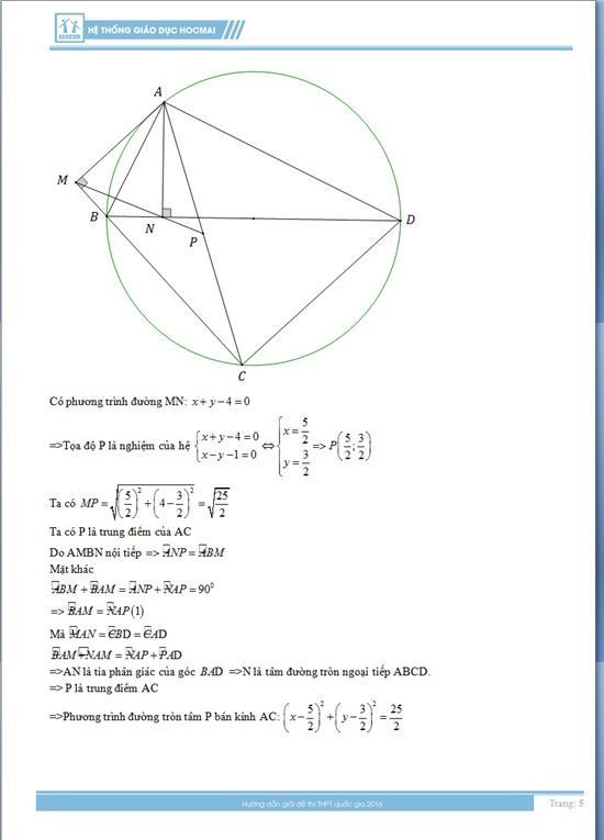 Đáp án đề thi môn toán 2016, kỳ thi THPT Quốc gia năm 2016, đáp án môn toán, đáp án đề thi môn toán, đáp án tốt nghiệp môn toán