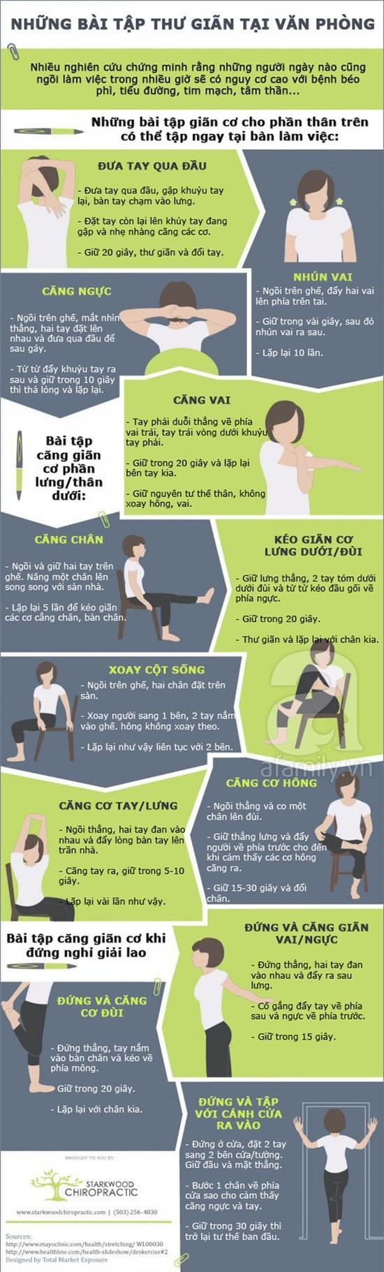 12 bài tập giãn cơ