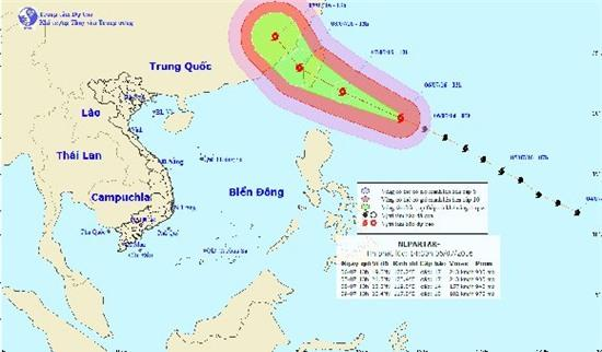siêu bão Nepartak, Biển Đông