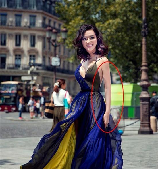 Hoa hậu Đền Hùng Giáng My gây khó hiểu với ngoại hình sai sự thật do photoshop quá đà - Ảnh 1.