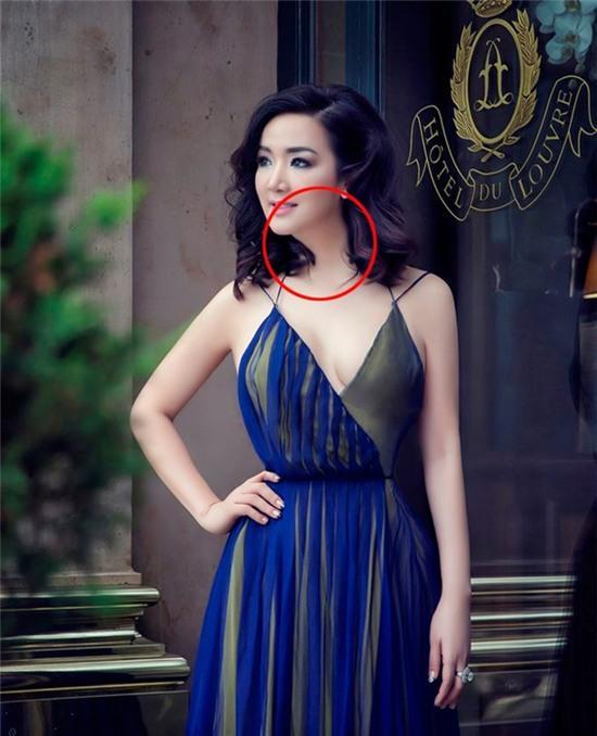 Hoa hậu Đền Hùng Giáng My gây khó hiểu với ngoại hình sai sự thật do photoshop quá đà - Ảnh 2.