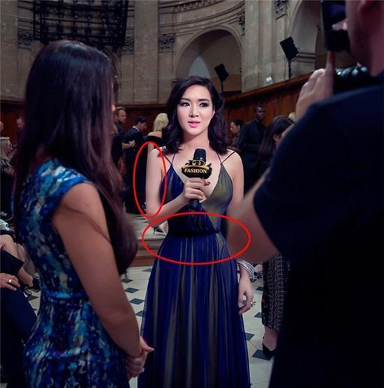 Hoa hậu Đền Hùng Giáng My gây khó hiểu với ngoại hình sai sự thật do photoshop quá đà - Ảnh 3.