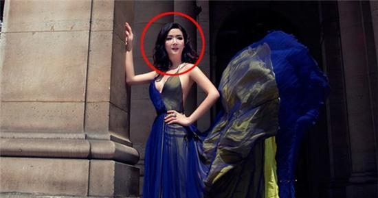 Hoa hậu Đền Hùng Giáng My gây khó hiểu với ngoại hình sai sự thật do photoshop quá đà - Ảnh 4.