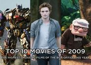 10 bộ phim Hollywood có doanh thu cao nhất trong nước năm 2009