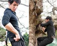 Lam Chính Long mải đóng phim quên cả quần toạc
