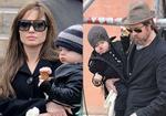 Cả nhà Angelina và Brad Pitt rủ nhau đi ăn kem Ý