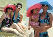 Ba thế hệ nhà Thuý Hạnh khoe đường cong tại Phuket