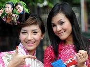 Phương Mai và cặp chân dài song sinh lọt bán kết Hoa hậu TGNV 2010