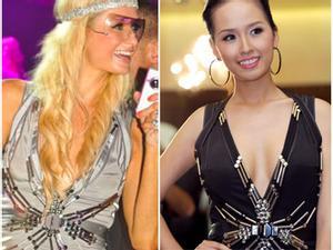 """Mai Phương Thúy  """"đụng hàng"""" Paris Hilton - Ai đẹp hơn?"""