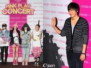 Lee Min Ho và 2NE1 tươi tắn trong concert Pink Play