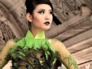 Top 10 siêu mẫu Châu Á ấn tượng với áo dài lông chim