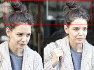 Katie Holmes khoe mặt mụn và quần áo luộm thuộm trên phố