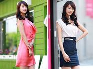 Váy liền thân khoe nét đẹp cơ thể
