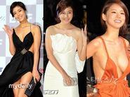 """Sao Hàn đua nhau """"khoe ngực"""" trên thảm đỏ LHP Busan"""