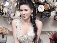 Quỳnh Hoa đẹp mơ màng với áo cưới