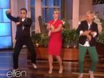 """Cười ngất xem Psy dạy Britney Spears nhảy """"Gangnam Style"""""""