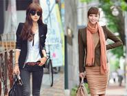 Áo khoác thu giúp thân hình  thon gọn hơn