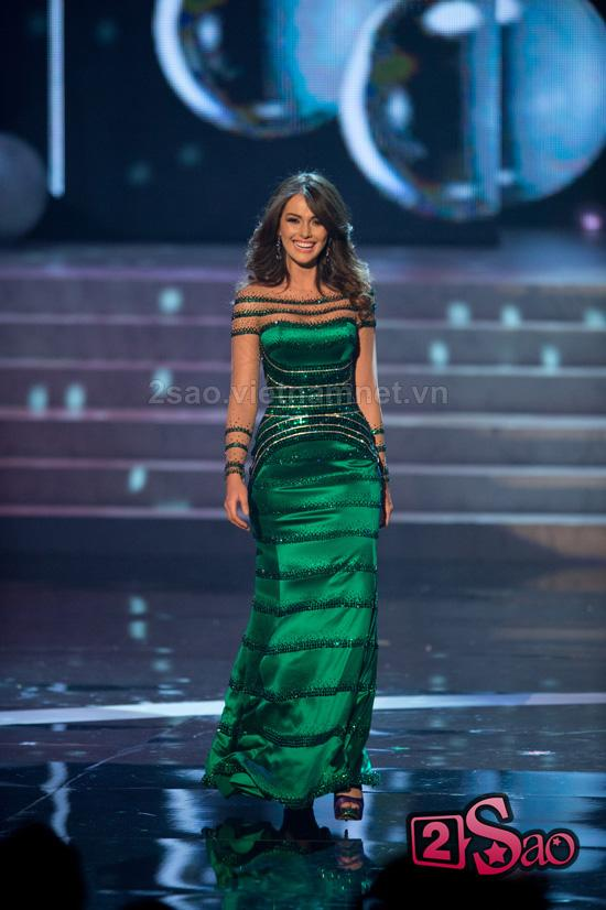 Top 10 Miss Universe 2012 long lay voi ao da hoi