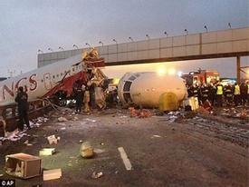 Cận cảnh vụ máy bay Nga trượt đường băng, 4 người chết