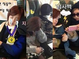 Chụp trộm T-ara ngủ ngật siêu dễ thương  - SuJu điển trai trang phục lạ