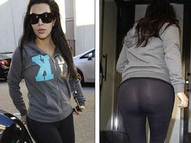 'Siêu vòng 3' Kim Kardashian không mặc quần lót ra đường