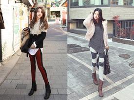 Giữ ấm ngày đông lạnh với legging