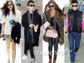 12 Sao Hàn thời trang nhất khi ở sân bay