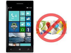 Google Maps bị chặn trên Windows Phone