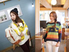 Dáng áo len cực dễ thương cho bạn gái