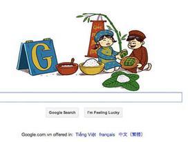 Hình ảnh Tết Việt trên trang chủ Google