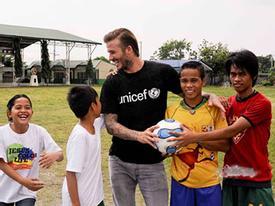 Beckham vinh dự nhận giải thưởng về lòng nhân ái