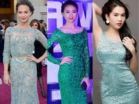Top những mỹ nhân đẹp mắt nhất với váy ren xanh