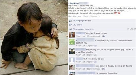 Sự thật về bức ảnh 2 em bé mồ côi khiến cộng đồng mạng rơi nước mắt