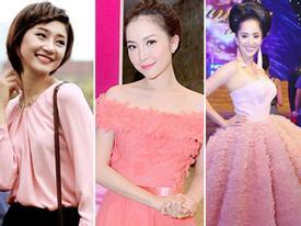 Muôn kiểu đáng yêu của Sao Việt với gam hồng