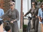 Không xế hộp, Katy Perry mặc pyjama đi xe đạp vẫn xinh