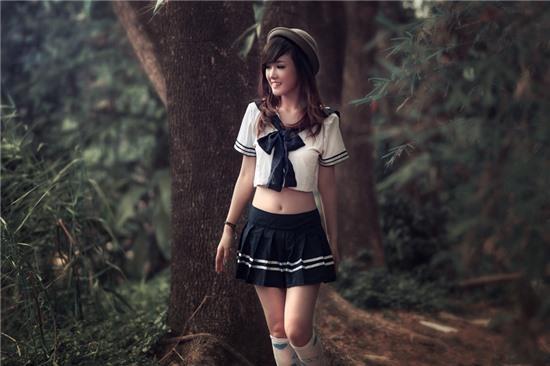Thiếu nữ xinh đẹp như nhân vật truyện tranh Nhật