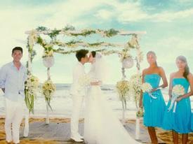 Hình ảnh về đám cưới 2 tỉ của Lâm Chí Dĩnh, Lưu Hiểu Khánh khoe chân thon