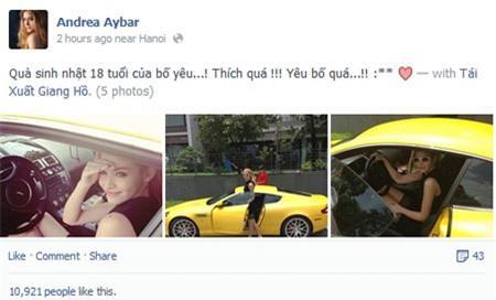 Xế xịn Aston Martin của Andrea chỉ là xe… đi mượn?