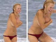 'Chết ngất' với màn ngực trần tắm biển của 'Quả bom sex' - Jessica Alba khoe dáng mượt mà